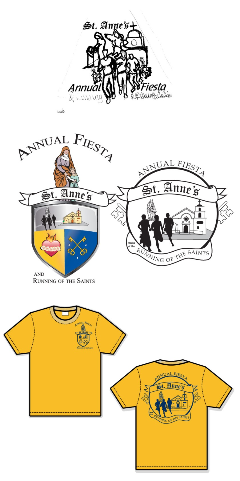 Running of the Saints T-shirts