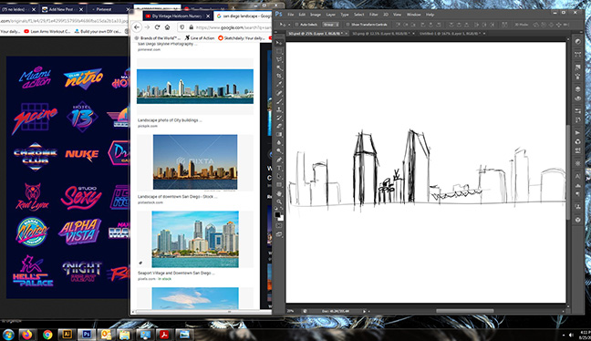 San Diego_Landscape-Sketc and inspiration
